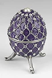 Gustavs Egg Diamant Encrusted Trinket Box