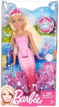 Barbie Blonde Mermaid Doll by Mattel (English Manual)