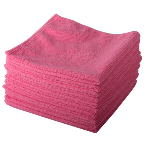 10-pack-of-pink-lint-free-microfibre-exel-super-magic-cleaning-cloths-for-polishing-washing-waxing-a