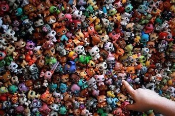 Lot 20 Pcs Littlest Pet Shop Cute Cat Dog Figures Random Kids Chrismas Toys