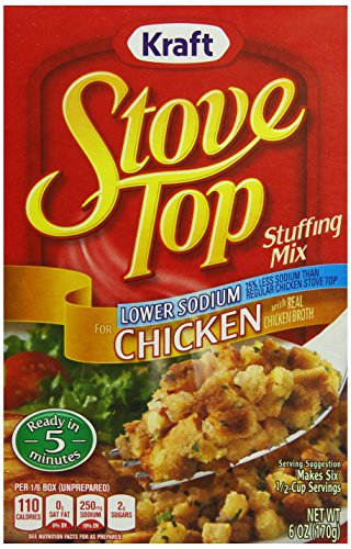 Stove Top Stuffing Mix, Chicken, Low Sodium, 6 oz.Boxes, 12 Count (Chicken Stuffing compare prices)