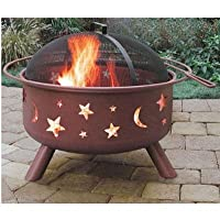 Landmann Big Sky Stars & Moons Fire Pit, Georgia Clay by Landmann USA
