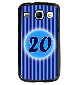 Printvisa 2D Printed Numerology Designer back case cover for Samsung Galaxy Core I8260- D4240