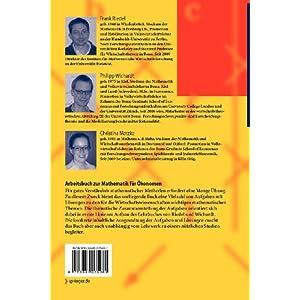 Arbeitsbuch zur Mathematik fur Okonomen: Ubungsaufgaben und Losungen (Springer-Lehrbuch)