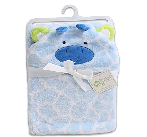 Baby Gear Baby Boy Hooded Giraffe Blanket - 1