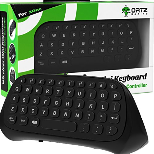 Ortz-Xbox-One-Chatpad-Keyboard-KeyPad-with-HeadsetAudio-Jack-Best-for-Wireless-Chat-Built-in-USB-Receiver-for-Xbox-One-Xbox-One-S-Game-Controller-Easy-Sync-with-your-Controller