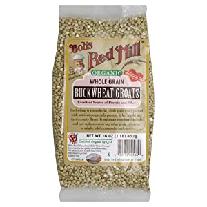 One 16 oz (1 lb) 453 g Organic Whole Grain Buckwheat Groats, Gluten Free