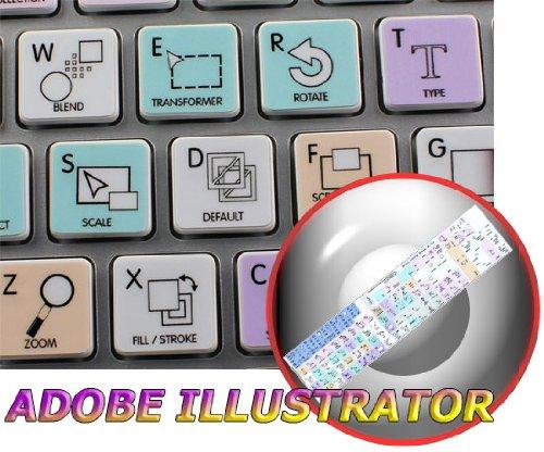 Adobe Illustrator Galaxy Series Sticker For Keyboard Apple Size