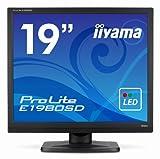 IIYAMA E1980SD-B1 19 inch Widescreen LED Monitor (1280x1024, VGA/DVI/MM)