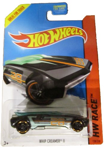 Hot Wheels 2014 Hw Race Thrill Racers Black Whip Creamer II 158/250 - 1