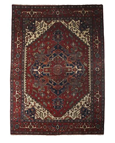 """Darya Rugs Traditional Hand-Knotted Rug, Red, 9' 10"""" x 14'"""