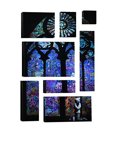 Banksy Stained Glass Window II 8-Piece Giclée On Canvas As You See
