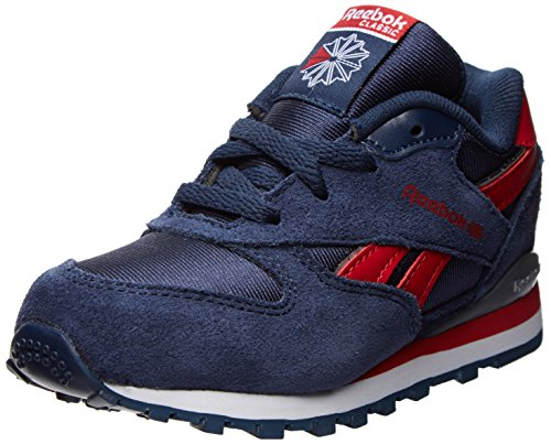 Reebok Gl 2620 Classic Sneaker (Infant/Toddler),Collegiate Navy/Execllent Red/White/Silver/Flat Grey,8.5 M Us Toddler front-954462