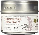 Green Tea Sea Salt, Non-GMO, 3.9 oz, Gourmet Salt