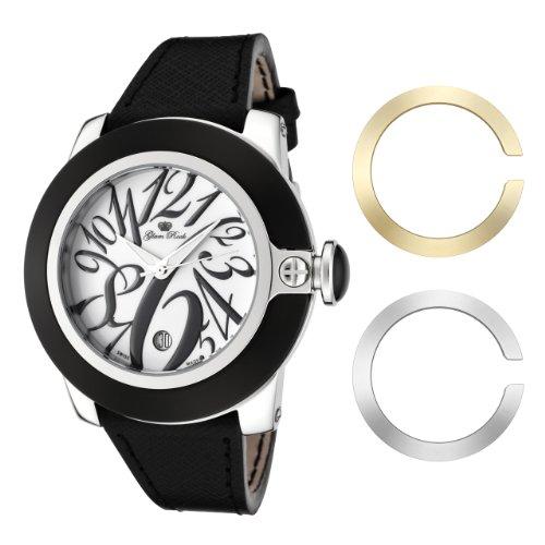 Glam Rock GR32083 - Reloj de pulsera mujer, piel, color negro