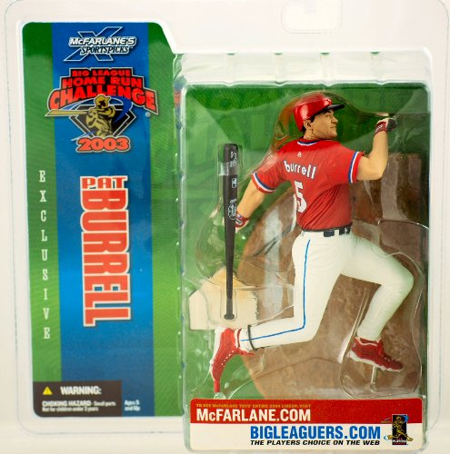 2003 - McFarlane Sportspicks - MLB - Exclusive - Big League Home Run Challenge - Pat Burrell #5 - Action Figure - 7 Inch - Limited Edition - Collectible by McFarlane Toys