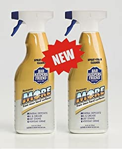 2 pack bar keepers friend new trigger spray foam cleaner for stainless steel. Black Bedroom Furniture Sets. Home Design Ideas