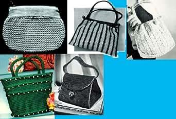 Amazon.com: Vamos a Crochet bolsos ~ 5 bolsa de mano más patrones
