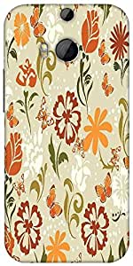 Snoogg Pattern Vector Element Designer Protective Back Case Cover For Htc One M8
