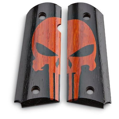 com : Punisher 1911 Grips Red / Black : Gun Grips : Sports & Outdoors