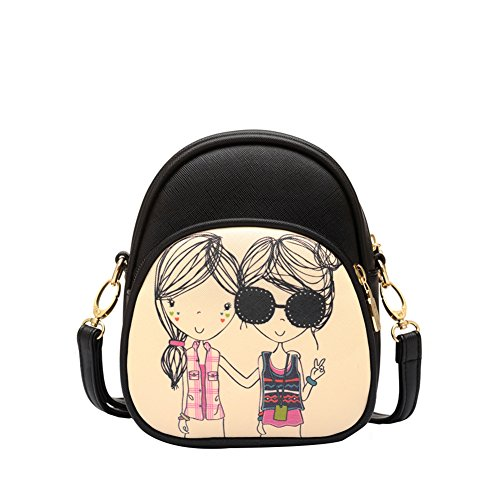 yiyo femmes en cuir PU sac bandoulière Fashion Cartoon Motif appareil photo Instax Etui pour Appareil Photo Instax Mini 870/7S 2550s 90Films