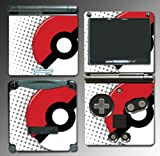 Pokemon Pokeball Pikachu Black and White 2 X Y Cartoon Movie Toy Video Game Vinyl Decal Cover Skin Protector for Nintendo GBA SP Gameboy Advance Game Boy