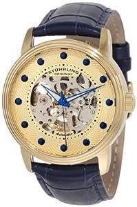 Stuhrling Original Men's 107D.3335C31 Delphi Helios Automatic Skeletonized Gold Dial Watch