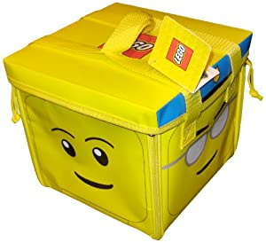 Neat-Oh! LEGO Head ZipBin 800 Brick Toy Tote & Playmat