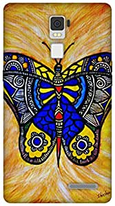 The Racoon Grip Joyous butterfly hard plastic printed back case / cover for Oppo R7 Plus