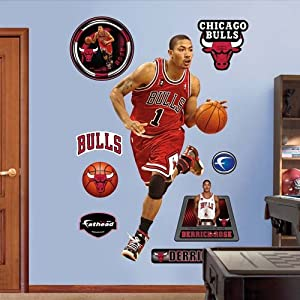 Chicago Bulls Derrick Rose Rookie of the Year Fathead Wall Graphic by Fathead