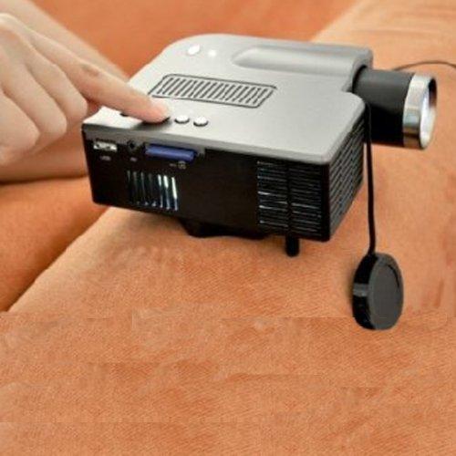 Mini Led Portable Projector 320X240 Av Vga Sd Usb Slot With Remote Control *Black