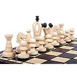 The Veles Chess Set, Wooden Handmade European Chess Pieces, 2.3