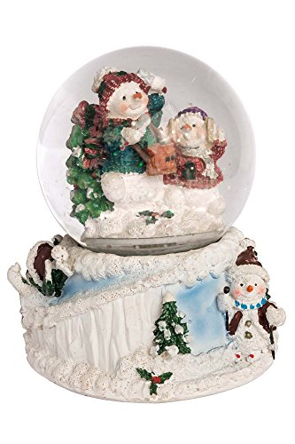 Winder Snowman Snow-Globe with Music measure 6,5
