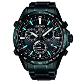 Seiko Solar SS Chronograph GPS Controlled Black Dial Men's Watch SSE013 (Color: Black)