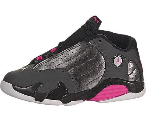 best loved af6fc 6e999 Jordan XIV 14 Retro Toddler Metallic Dark Grey Hyper Pink ...