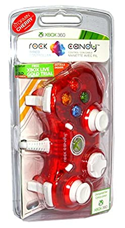PDP - Mando Con Cable Rock Candy, Licenciado, Color Rojo (Xbox 360)