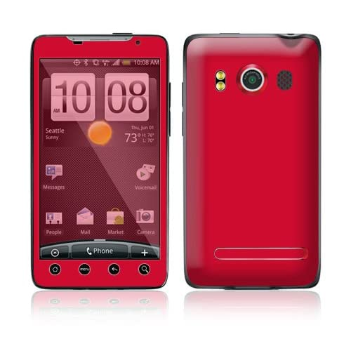 Simply Red Protective Skin Cover Decal Sticker for HTC Evo 4G (Sprint) Cell Phone