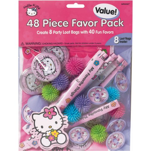 Amscan-Hello-Kitty-Party-Favors-Value-Pack-48-Piece