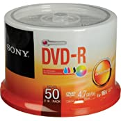 DVD-R 4.7 GB White Inkjet Printable Recordable Discs Spindle Pack Of 50 And Free 6 Feet Netcna HDMI Cable - By...