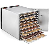 STX International STX-DEH-600W-SST Dehydra 10 Tray Food and Jerky Dehydrator with 40 Hour Timer, 600W, Stainless Steel