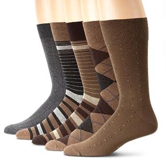 Cole Haan Men's Stripe 5 Pack, Khaki Multi, One Size