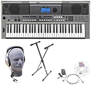 Yamaha PSRE443 Portable Keyboard with Headphones, X-Style