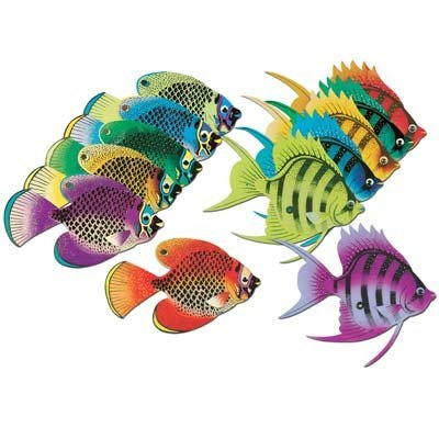 Deep Sea Tropical Fish (asstd designs & colors) Party Accessory  (1 count) (1/Pkg)