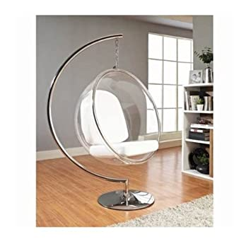 UK-A002-1 Luxurious White Color Hanging Bubble Chair & Stand Combo