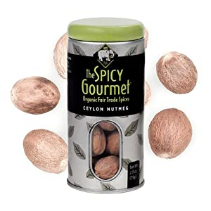 The Spicy Gourmet Organic Whole Nutmeg 28 Oz from The Spicy Gourmet