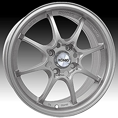 Konig Helium 15x6.5 Silver Wheel / Rim 4x100 with a 40mm Offset and a 73.10 Hub Bore. Partnumber 72S-HE65D0440S (1991 Toyota Corolla Rims compare prices)