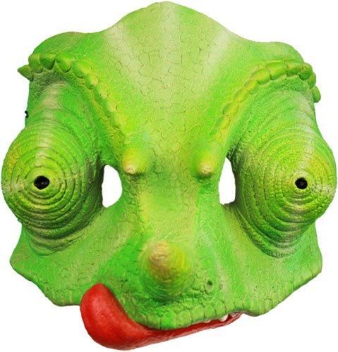 Chameleon Mask Green Reptile Halloween Costume (Reptile Mask)