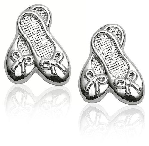 Sterling Silver Children's Ballet Slipper Earrings