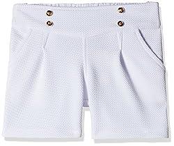 Little Kangaroos Girls' Shorts (Pack of 2) (11564_White_4 year)