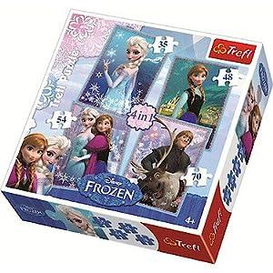 Disney Frozen 4 In 1 Jigsaw Puzzle Set - 35/48/54/70 Pieces